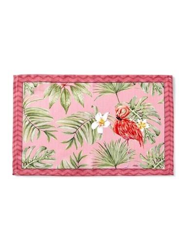 The Mia Tropic Mutfak Havlusu - Flamingo B Renkli